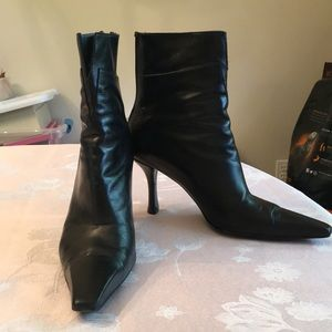 Black Stuart Weitzman Heeled Booties